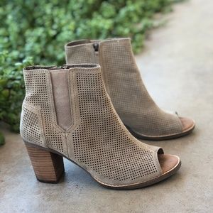 Toms Majorca Suede Perforated Suede Ankle Booties